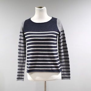 Autumn Cashmere Sweater Womens Small S Stripes